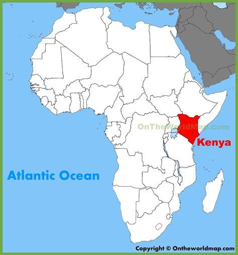 africa map kenya kenya location on the africa map