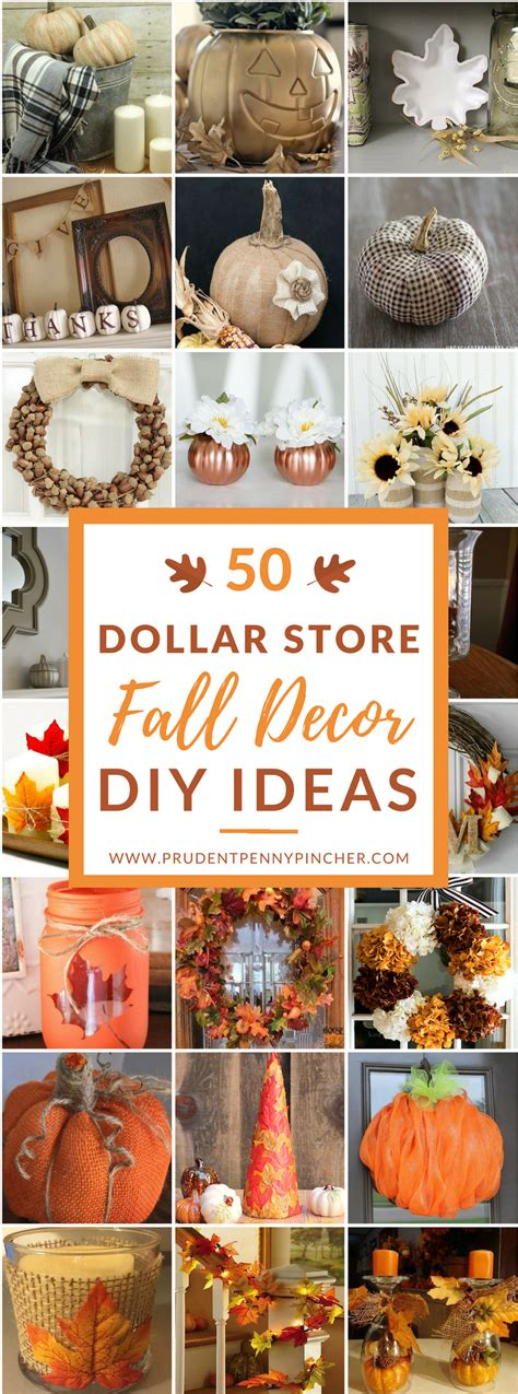 home made fall decorations 50 dollar store fall decor diy ideas prudent pincher