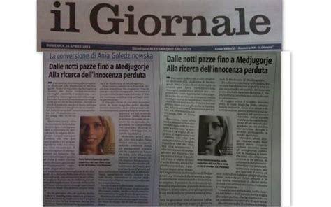 il giornale it interni il giornale dalle notti pazze fino a medjugorje su con