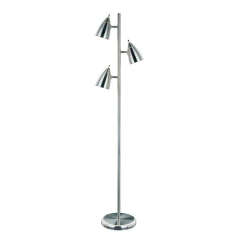 illumine 64 in polished steel floor l cli ls402640