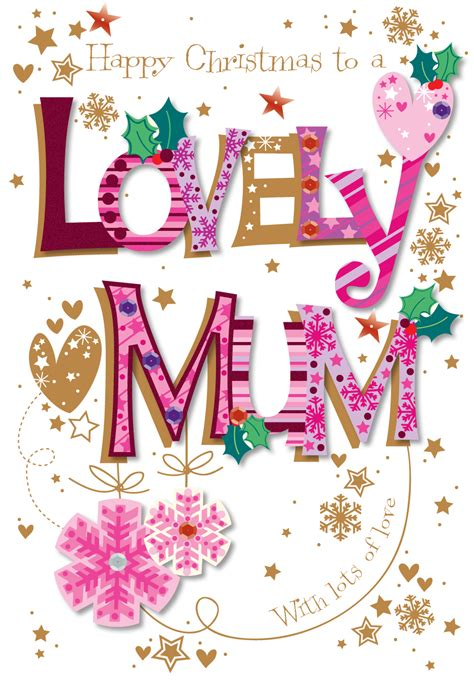 lovely mum happy christmas greeting card cards love kates