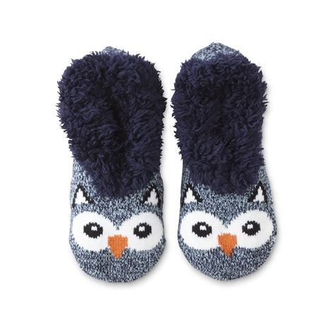 owl slippers joe boxer s slipper socks owl sears