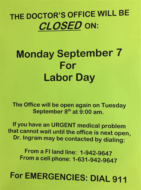 doctor s office closed labor day fishersisland net