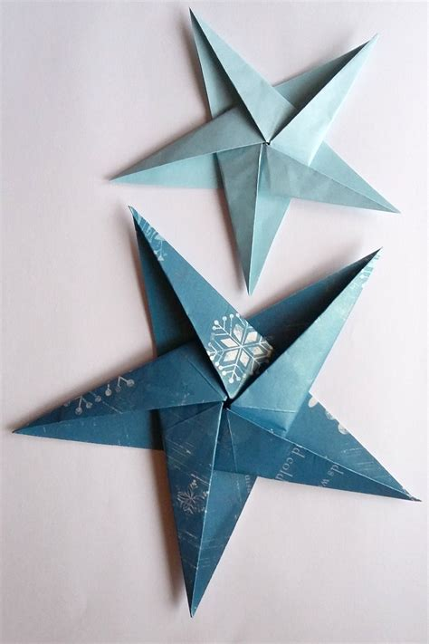 Origami Tree Decorations - how to make folded paper decorations origami