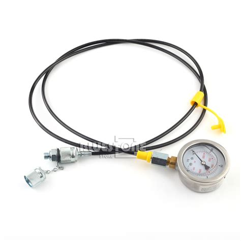 Hydraulic Pressure 63mm 16bar 230psi Npt1 4 Base Entry xztk 60 excavator hydraulic pressure test kit hydraulic tester test coupling