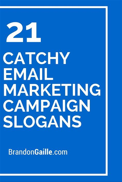 23 catchy email marketing caign slogans caign