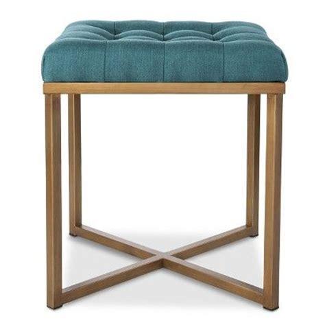threshold x bench ottoman threshold button tufted ottoman blue furniture