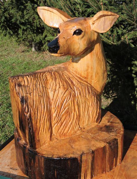 reh zeichnung 5616 doe deer chainsaw carving chainsaw animals yard