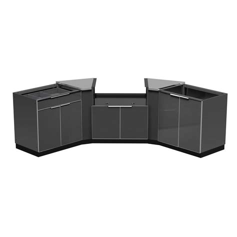outdoor cabinets home depot newage products aluminum slate 5 piece 86x36x86 in