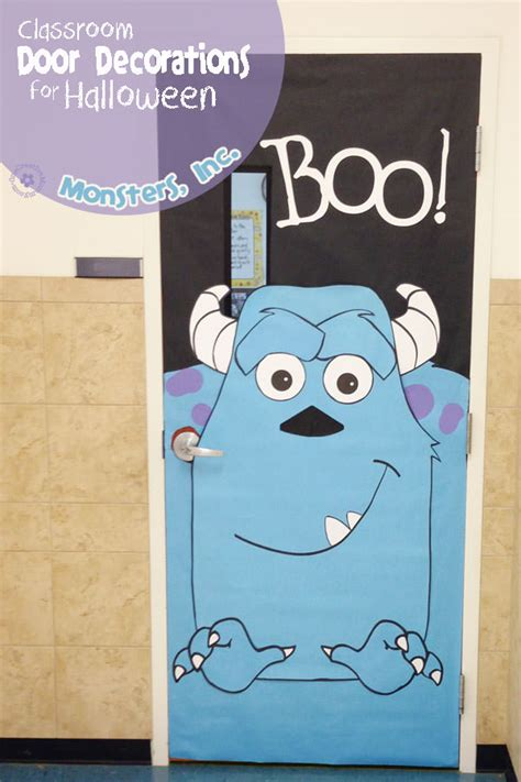 printable halloween door decorations halloween classroom door decorations monsters inc