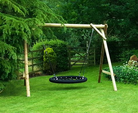 in swing family basket swing wooden garden play equipment