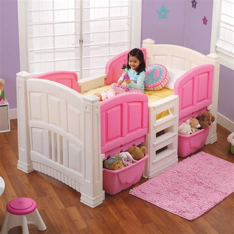 toddler bed loft step 2 girl s loft storage twin bed baby toddler
