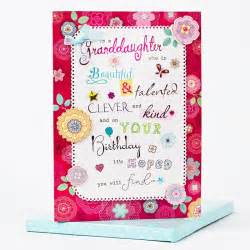boxed birthday card beautiful granddaughter only 163 1 99