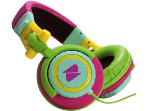 colorful headphones sherbet colorblock colorful headphones technology gadget