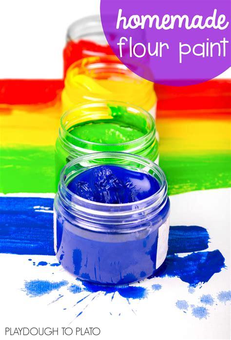 flour crafts for flour paint recipe playdough to plato