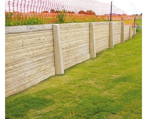 concrete sleeper retaining wall textures and finishes