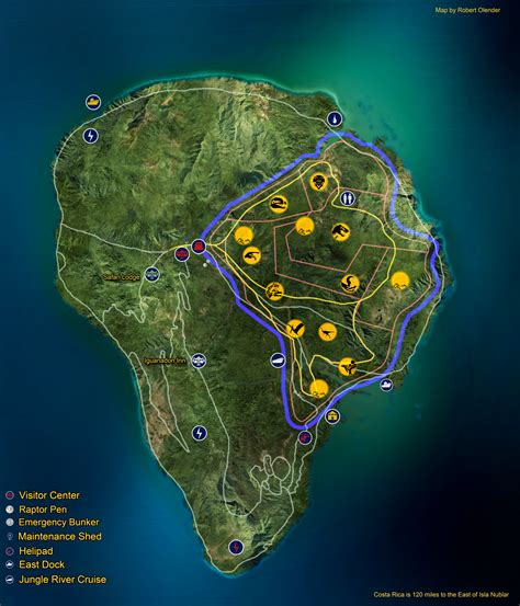 jurassic park map fan made isla nublar map by fluxcreations on deviantart