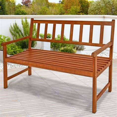 garden bench hardwood wooden garden bench quot kensigton quot furniture patio seater