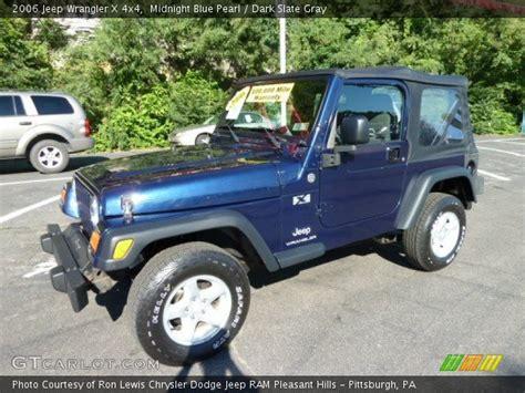 midnight blue jeep midnight blue pearl 2006 jeep wrangler x 4x4 dark