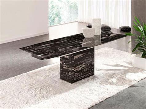 Extending Marble Dining Table Zeus Black Nero Marble Extending Dining Table 6 Chairs