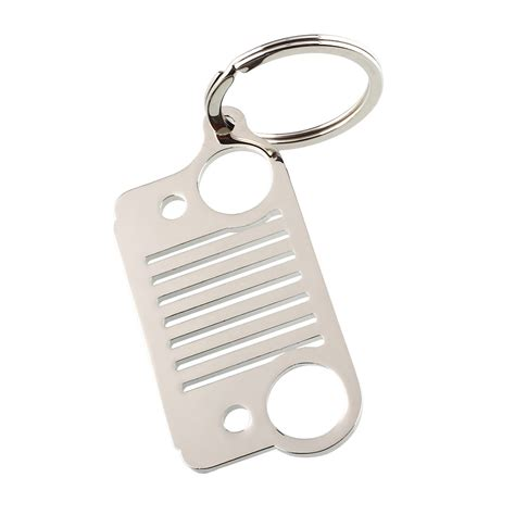 Jeep Key Ring Aukey Stainless Jeep Grill Key Chain Ring Silver Jk Tj Xj
