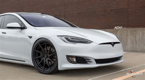 Rims For Tesla Model S White Tesla Model S Adv10r M V2 Cs Wheels Adv 1 Wheels