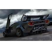 Rendering Custom Twin Turbo Lamborghini Countach  Motorward
