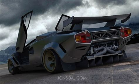 Lamborghini Countach Modified by Rendering Custom Twin Turbo Lamborghini Countach