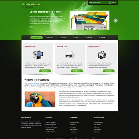 dreamweaver business templates 25 free dreamweaver css templates available to