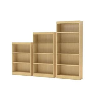 axess collection 5 shelf bookcase maple home