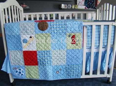 Handmade Baby Bedding Sets - 100 cotton handmade patchwork baby bedding crib set quilt
