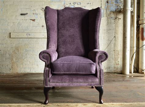 Alstons Chairs alston velvet chesterfield wing chair abode sofas