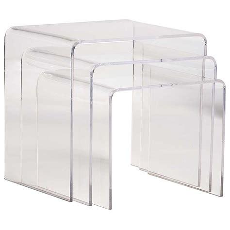 3 piece nesting table set acrylic nesting tables 3 piece set in nesting table sets