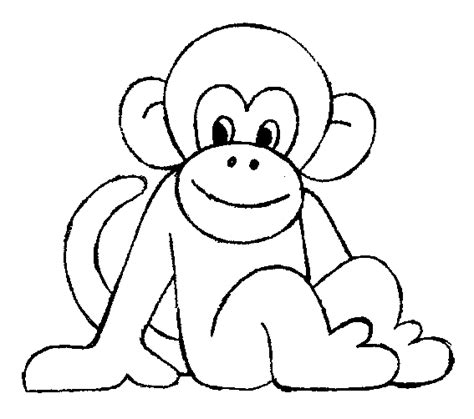 Monkeys Free Colouring Pages Coloring Page Monkey