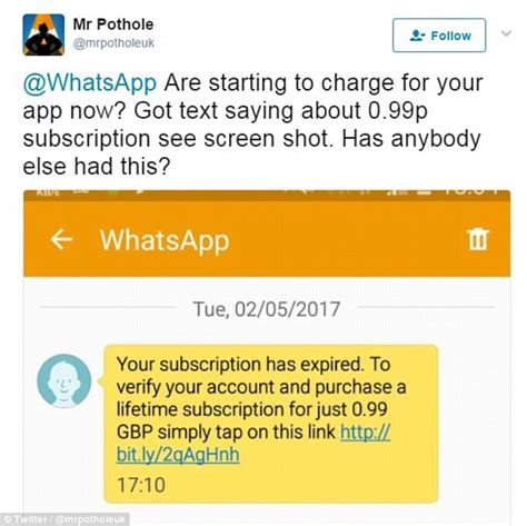 Has A Message A Message by Whatsapp Scam Texts Trick Victims Into Paying A Fee