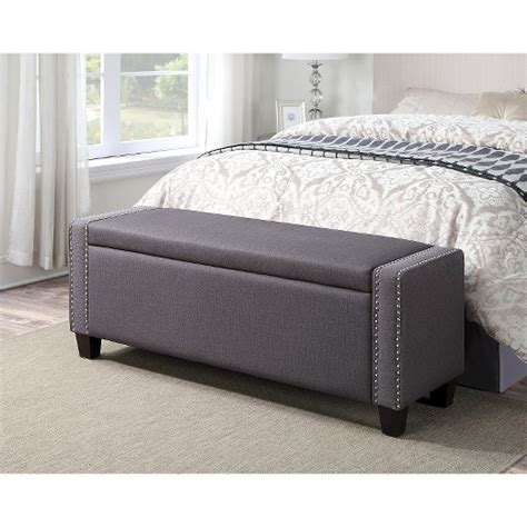 target bedroom bench upholstered bedroom storage bench trespass slate
