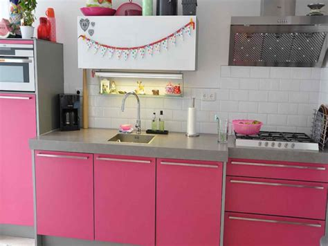 interior kitchen decoration pink kitchen decorating ideas in style