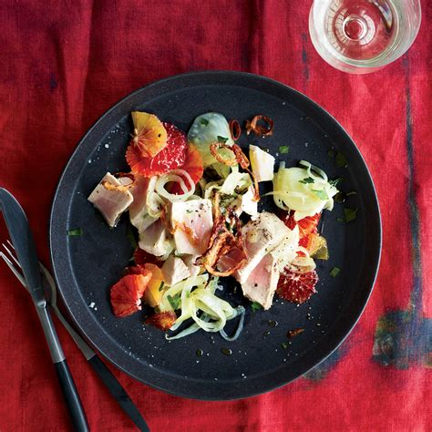 poached tuna poached tuna with fennel and orange recipe grace