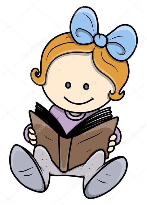 imagenes animadas leyendo un libro linda ni 241 a leyendo un libro ilustraciones vectoriales
