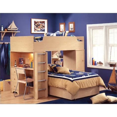 bunk beds with desks loft bed with desk casual cottage