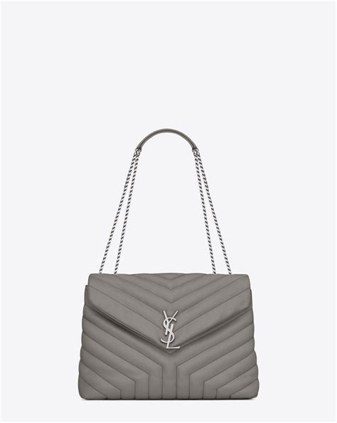 Ysl Medium Swing Bag by Laurent Medium Loulou Chain Bag In Pearl Grey Quot Y