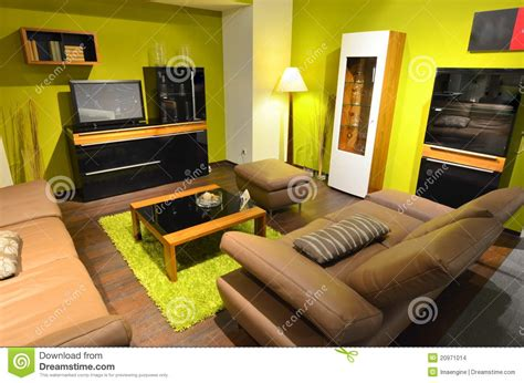 Leather Sofa Prices Studio Apartment Living Room Area Stock Images Image