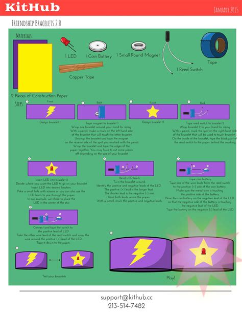 Paper Circuit Card Template by How To Make Paper Circuits Kithub