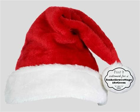 free christmas printable santa hat and beard photo booth