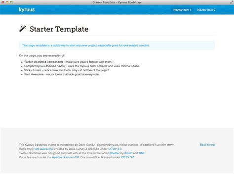 bootstrap starter template templates kyruus bootstrap
