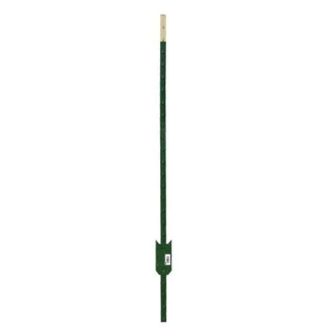 home depot painted post hdx 6 ft heavy duty steel green painted t post 901176hd