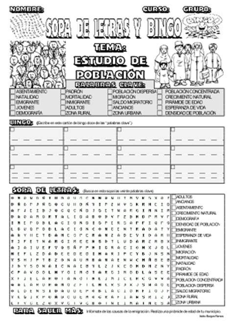 banco de preguntas de geografia humana sopas y bingos estudio de poblaci 243 n actiludis