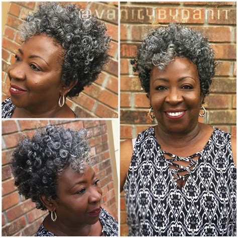 salt and pepper afro styles tapered cut crochet braids using salt n pepper small and
