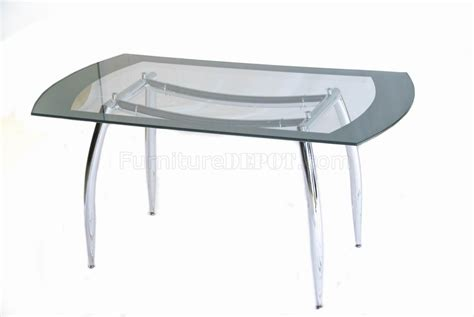 glass top metal base modern dining table w frosted glass