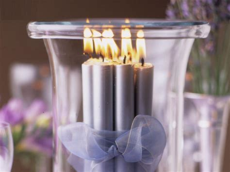 table decorations with candles interior home design
